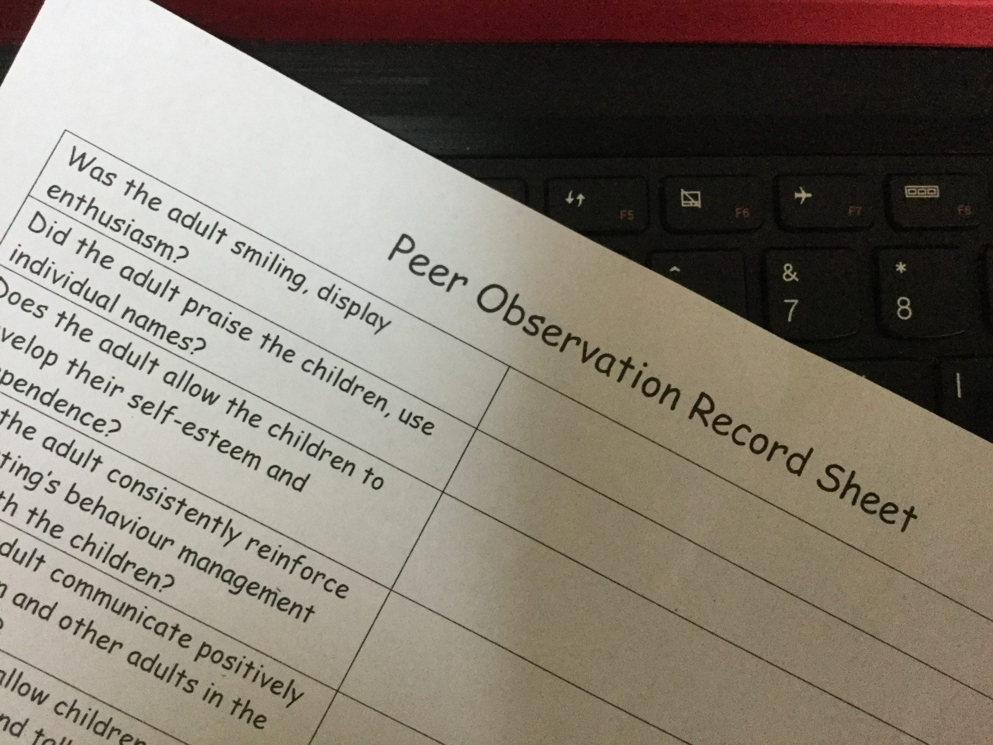 What are a peer to peer observations