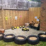Using old tyres in the early years environment