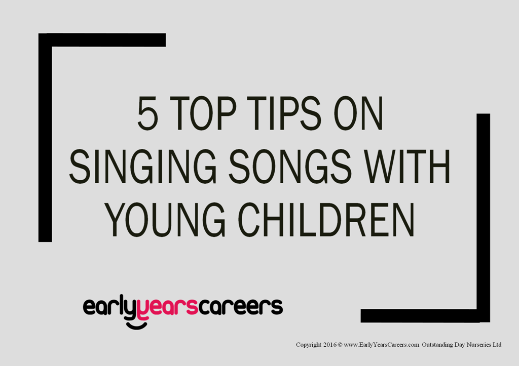 front cover for singing with young children