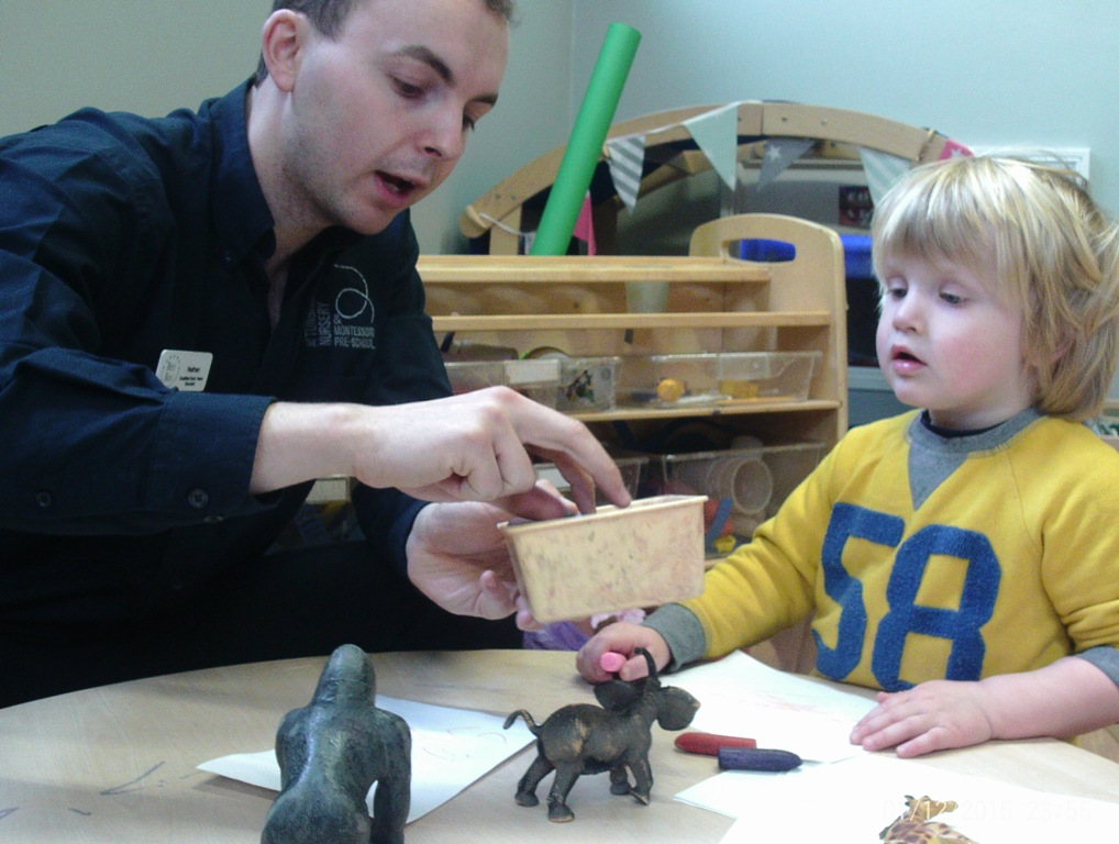 Male practitioners working in childcare