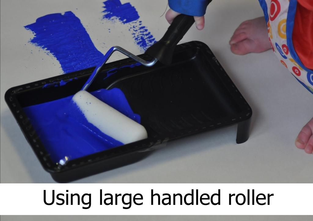 large handled roller for mark making activity