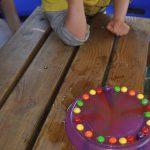 Skittles rainbow activity