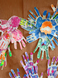 handprint art in the early years