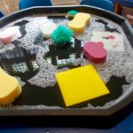 Using different materials in water play